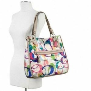 COACH POPPY STAMPED C HALLE HIPPIE MULTI COLOR